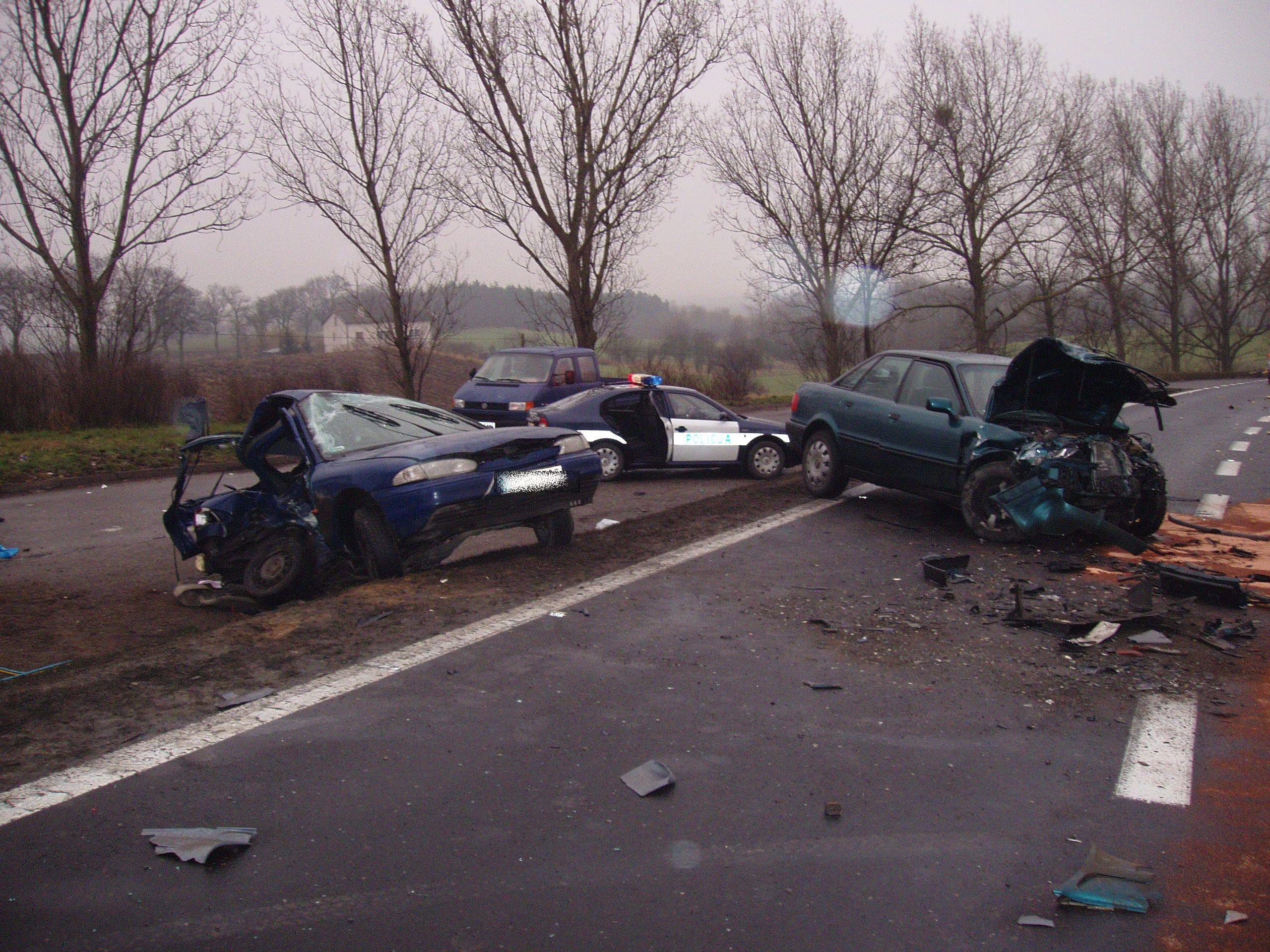 Wypadek drogowy//Źródło: policja.pl