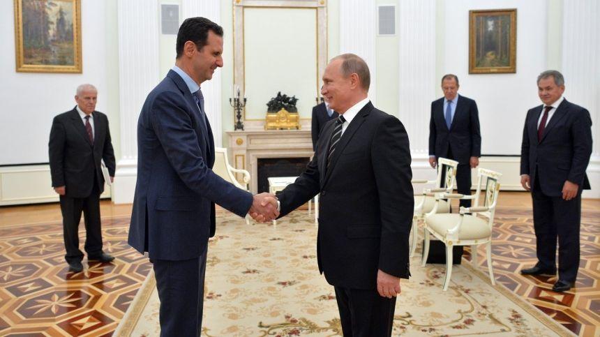 Prezydenci Syrii i Rosji: Baszar al-Asad i Władimir Putin via Kancelaria Prezydenta Rosji