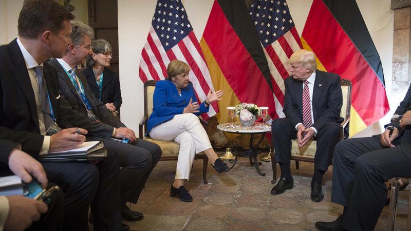 Merkel i Trump