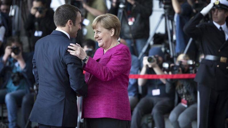 Merkel i Macron w Berlinie