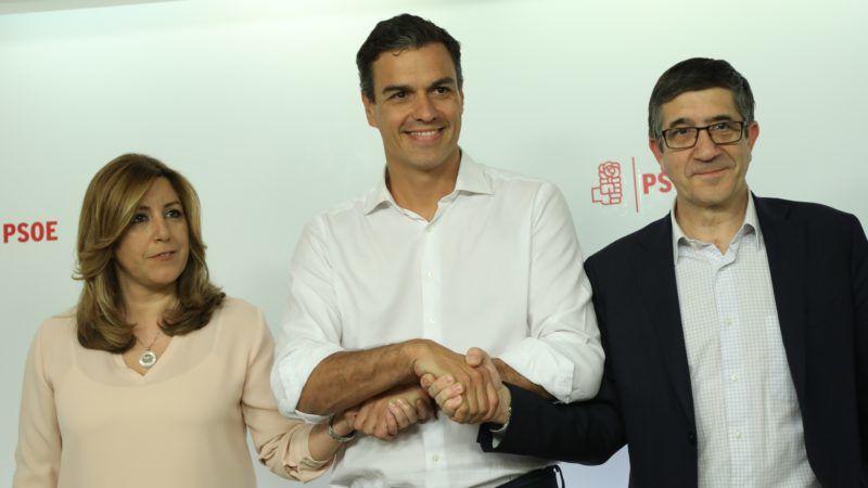 Susana Díaz, Pedro Sánchez, Patxi López