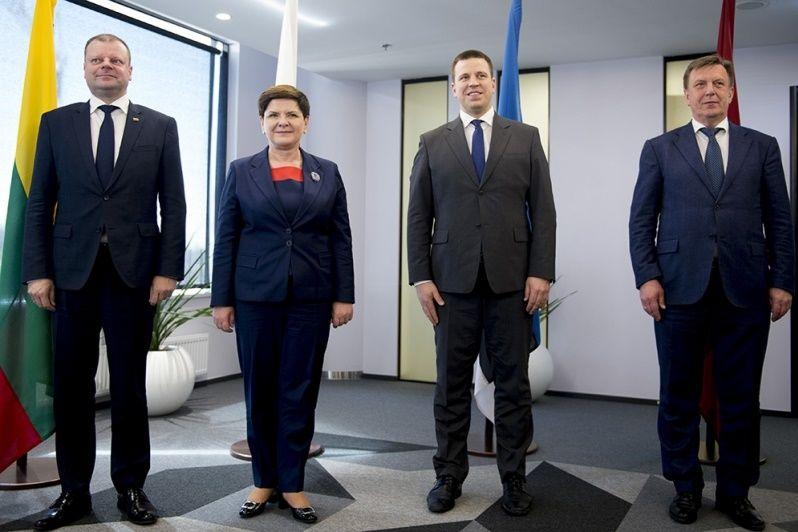 Premierzy Polski, Litwy, Łotwy i Estonii w Tallinie
