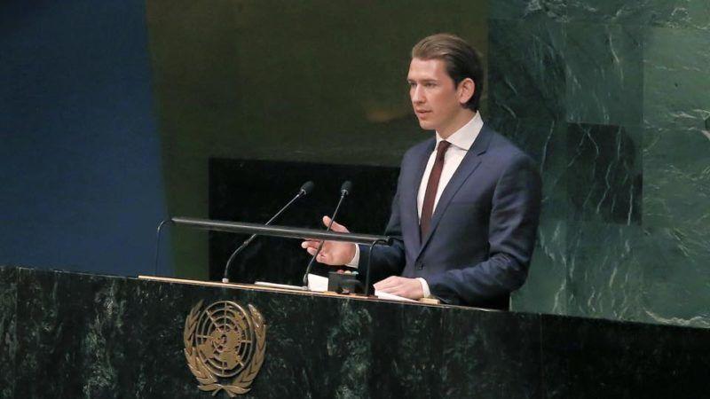 Sebastian Kurz podczas Zgromadzenia Ogólnego ONZ