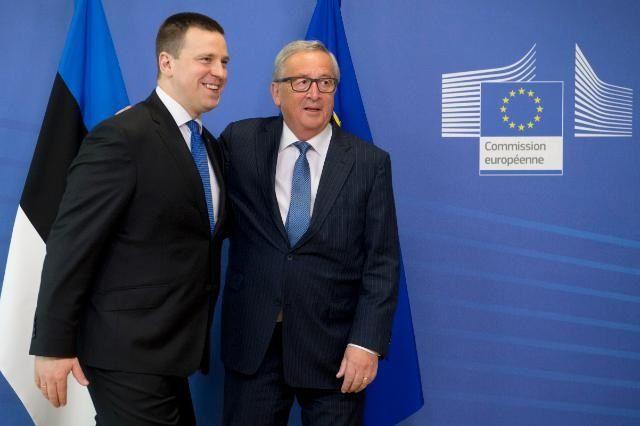 Premier Estonii Jüri Ratas i przewodniczący KE Jean-Claude Juncker
