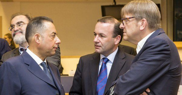 Gianni Pittella, Manfred Weber i Guy Verhofstadt