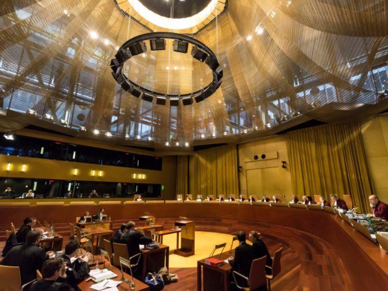 Sala rozpraw Wielkiej Izby Trybunału Sprawiedliwości UE