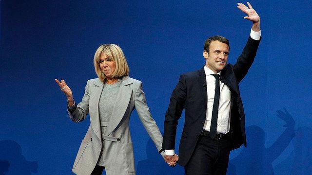Francuska para prezydencka - Brigitte i Emmanuel Macron