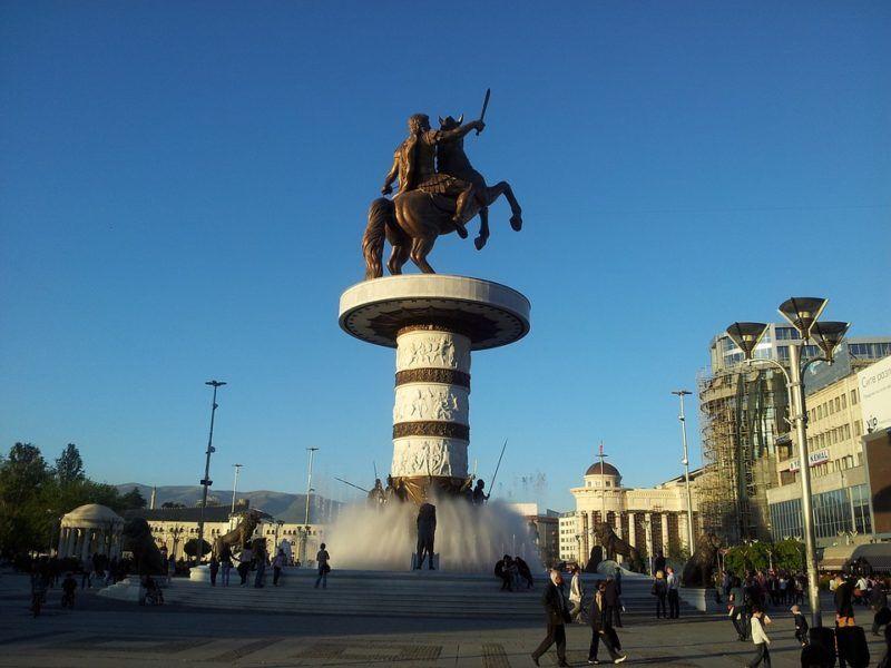 Pomnik Aleksandra Wielkiego w Skopje, żródło: Flicr