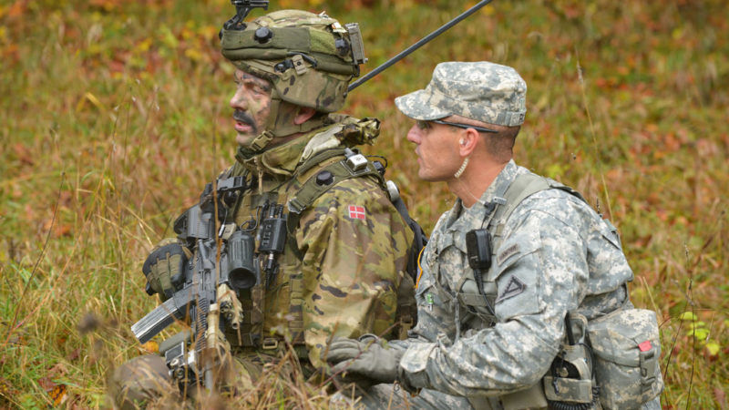 Duńscy żołnierze podczas ćwiczeń na poligonie, źródło Flickr