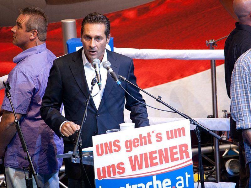 Lider Wolnościowej Partii Austrii Heinz-Christian Strache, źródło Wikipedia
