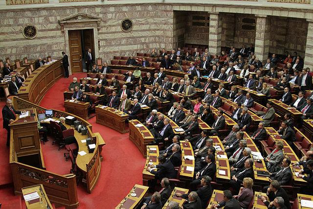 Sala obrad greckiego parlamentu, źródło Wikipedia