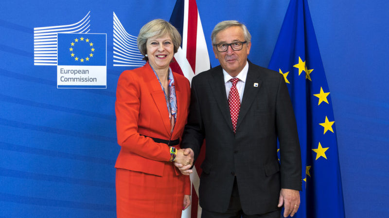 Theresa May i Jean-Claude Juncker, źródło Flickr