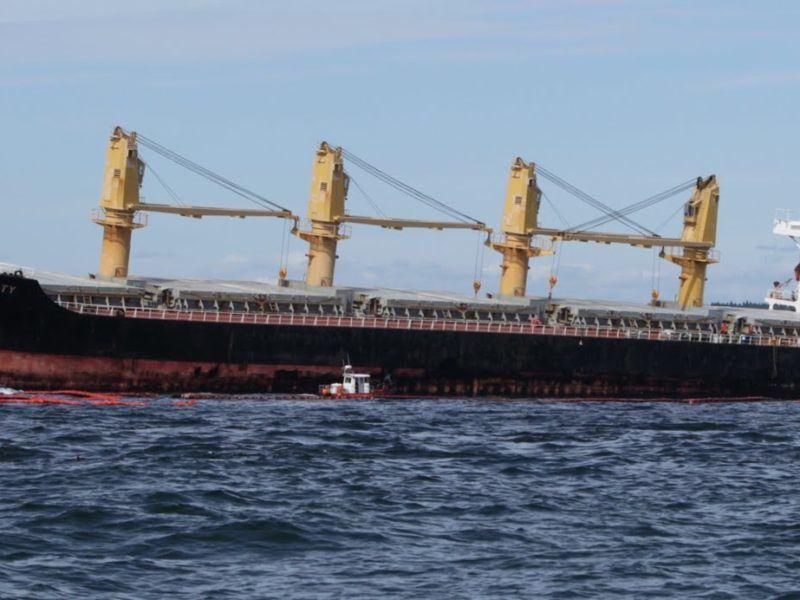 Pływający pod banderą Panamy Tankowiec Full City, którego awaria u wybrzeży Norwegii w 2009 r. wywołała wyciek 700 ton oleju napędowego, źródło Wikipedia
