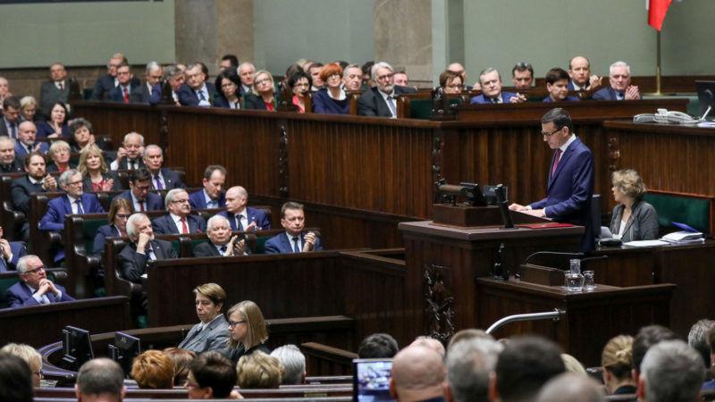 Exposé premiera Morawieckiego, źródło Jakub Szymczuk KPRP