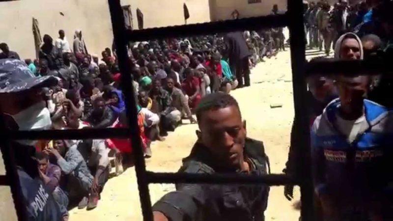 Ośrodek dla nielegalnych imigrantów w Libii, źródło Flickr
