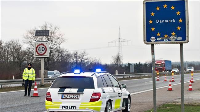 Policyjny patrol na duńskiej granicy, źródło Flickr