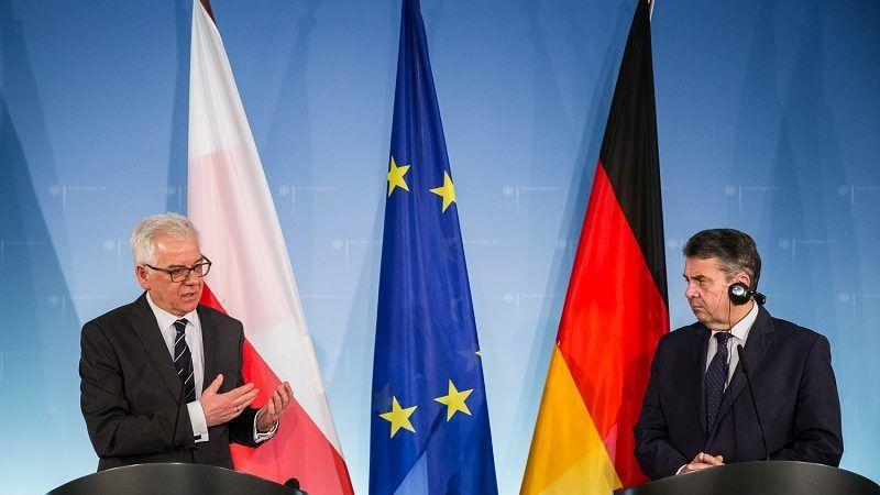 Szefowie MSZ Jacek Czaputowicz i Sigmar Gabriel w Berlinie, źródło: Tymon Markowski / MSZ
