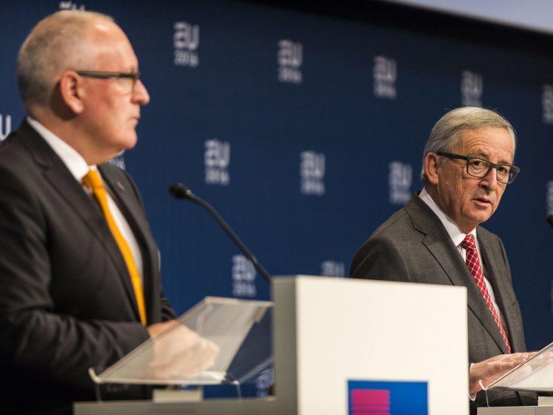 Frans Timmermans i Jean-Claude Juncker, źródło Flickr