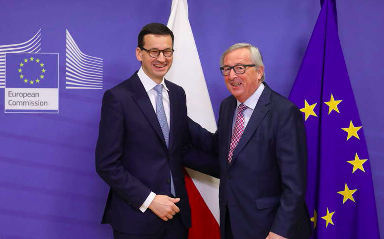 Mateusz Morawiecki i Jean-Claude Juncker, źródło Komisja Europejska