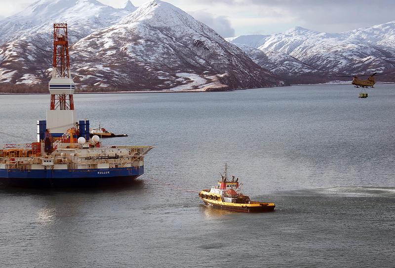 Platforma wiertnicza w rejonie Arktyki, źródło Flickr