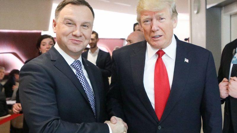 Prezydenci Polski i USA Andrzej Duda i Donald Trump w Davos 2018, źródło Jakub Szymczuk/KPRP