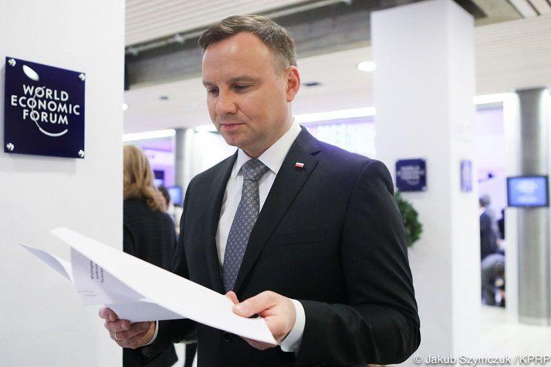 Prezydent Andrzej Duda w Davos, źródło: Jakub Szymczuk/KPRP
