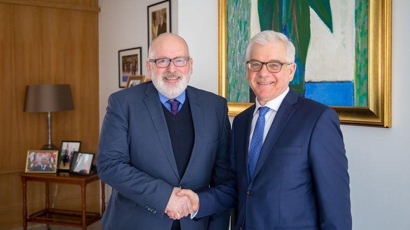 Spotkanie Czaputowicz-Timmermans w Brukseli, luty 2018, źródło Gabriel Piętka/ MSZ