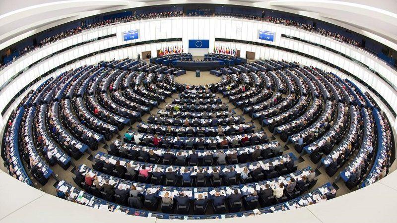 Parlament Europejski, sala obrad w czasie głosowań, źródło PE