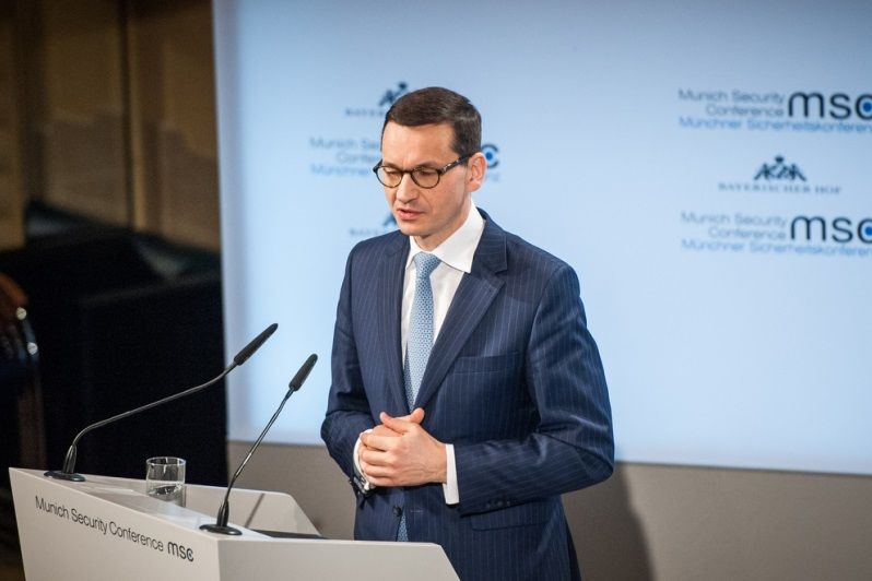 Premier Mateusz Morawiecki w Monachium, żródło KPRM