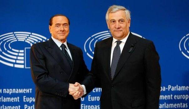 Silvio Berlusconi i Antonio Tajani, źródło PE