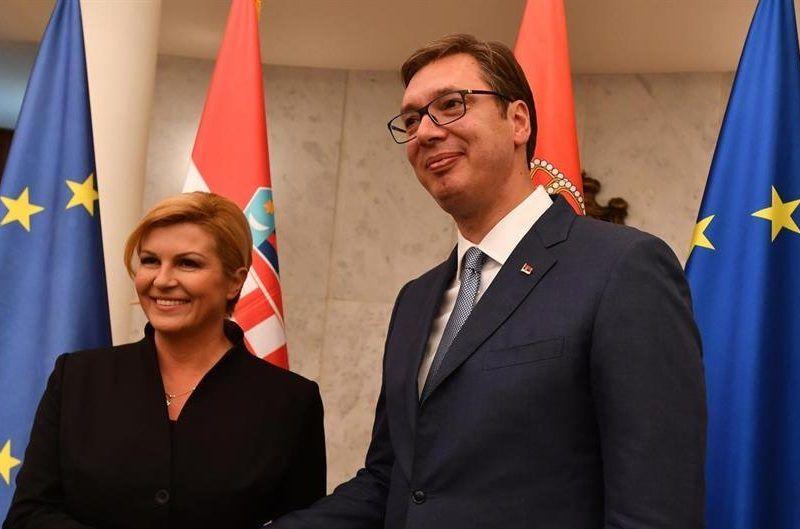 Prezydent Chorwacji, Kolinda Grabar-Kitarović i prezydent Serbii, Aleksandar Vučić /Ured Predsjednice RH