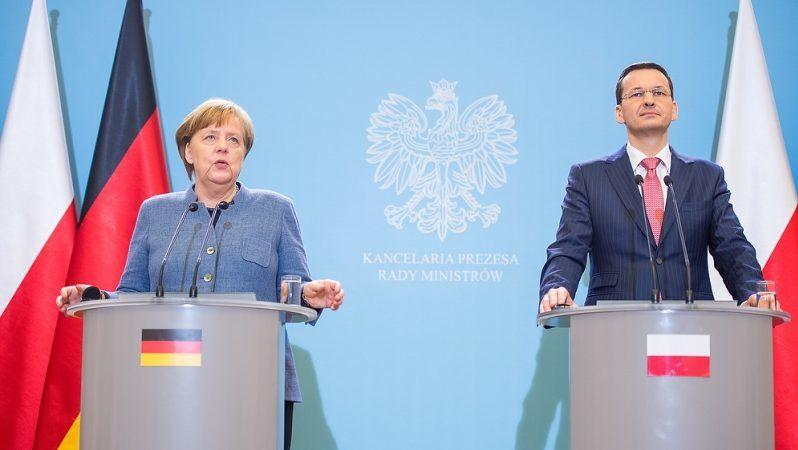 Angela Merkel i Mateusz Morawiecki, fot, W.Kompała/KPRM