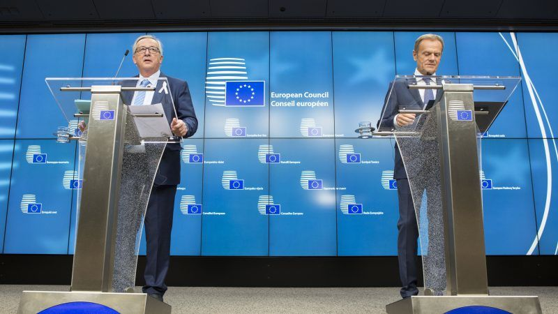 Jean-Claude Juncker i Donald Tusk, źródło European Council