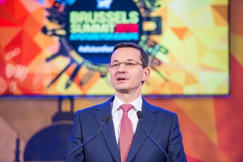 "Premier Mateusz Morawiecki na konferencji EKR ""A Future for Europe"" w Brukseli, źródło KPRM"