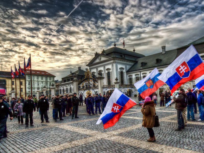 Protest w Bratysławie, źródło: Flickr/Miroslav Petrasko