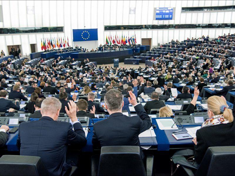 Sala plenarna PE podczas głosowania, źródło European Parliament