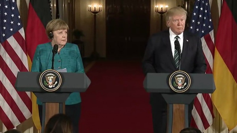 Angela Merkel i Donald Trump, źródło: White House