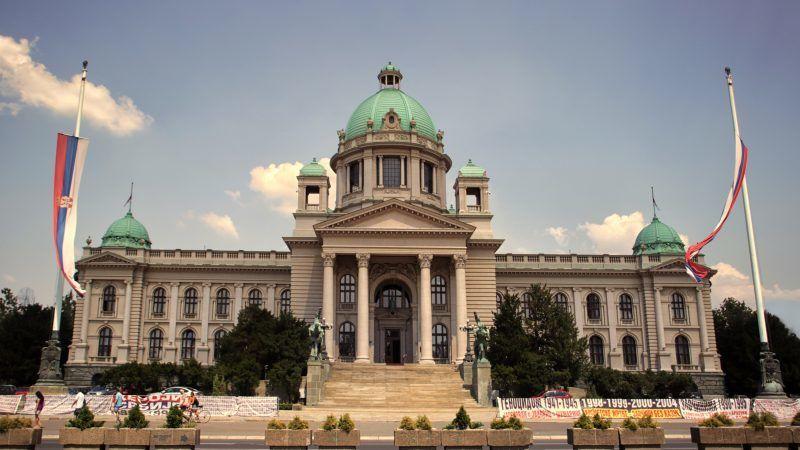 Budynek parlamentu Serbii, źródło: Flickr/fot. Jovan Marković