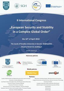 "II Międzynarodowy Kongres ""European Security and Stability in a Complex Global Order"""