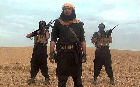 Kadr z filmu propagandowego Państwa Islamskiego, źródło: Wikipedia, fot. Alibaba2k16
