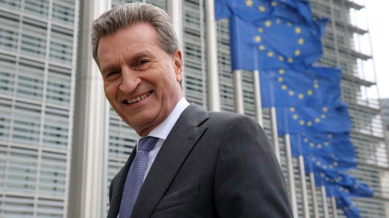 Komisarz ds. budżetu UE Günther Oettinger, źródło: Komisja Europejska