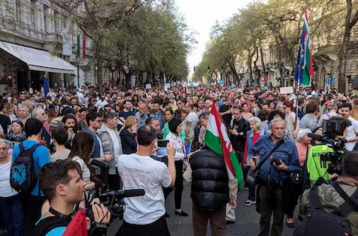 Protest w Budapeszcie, źródło Facebook:Mi vagyunk a többség