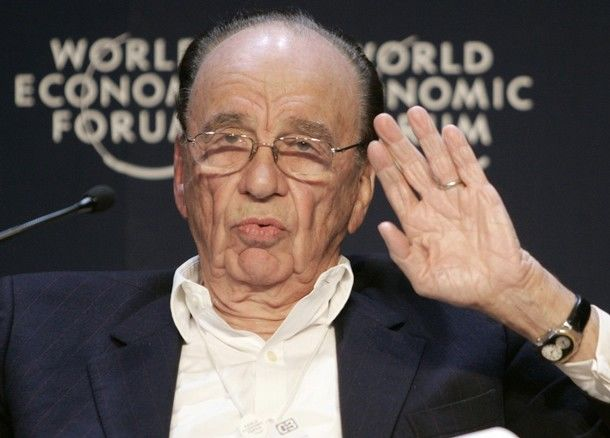 Rupert Murdoch, źródło: Flickr/World Economic Forum, fot. Denis Balibouse