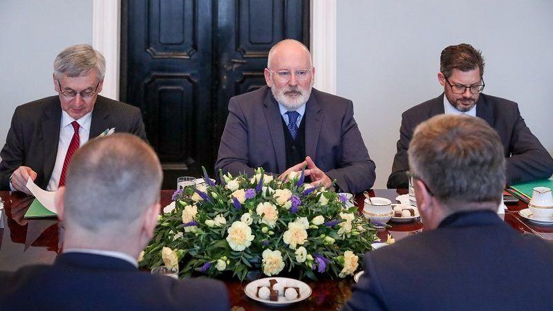 Wiceszef KE Frans Timmermans w czasie rozmów w Warszawie, źródło Grzegorz Jakubowski KPRP