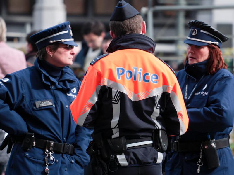 Belgijska policja, źródło: Flickr, fot. Matthew Kenwrick