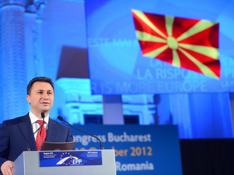 Były premier Macedonii Nikoła Gruewski, źródło: Flickr/European People's Party