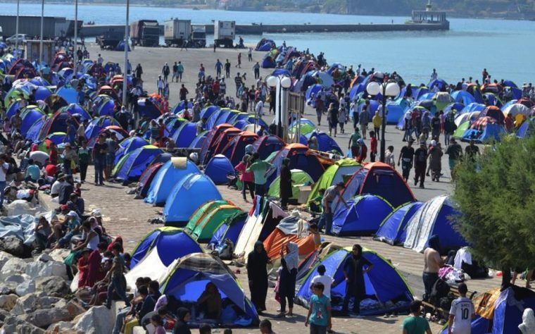 Obóz uchodźczy na Lesbos