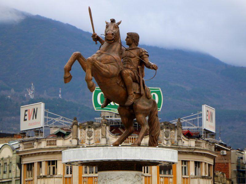 Pomnik Aleksandra Wielkiego w Skopje, żródło: Flickr/fot. Juan Antonio Segal