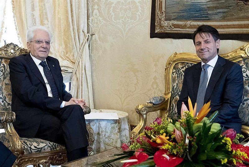 Prezydent Włoch Sergio Mattarella i Giuseppe Conte, źródło Presidenza della Repubblica, commons.wikimedia.org
