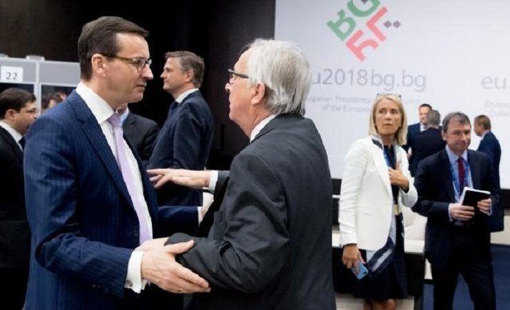 Szef KE Jean-Claude Juncker i premier Mateusz Morawiecki w Sofii, źródło KE